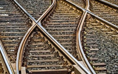 Bauarbeiten an den Bahngleisen