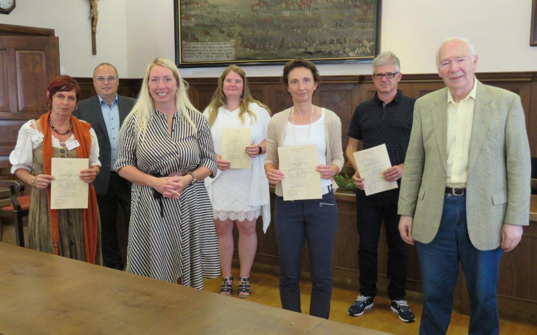 Vier neue Stadtführer für Gundelfingen